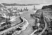 Port of Hayle, England, 19th century illustration