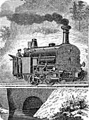Fell mountain locomotive, 19th century illustration