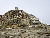 Snowdon (Yr Wyddfa) summit cairn, Wales, UK