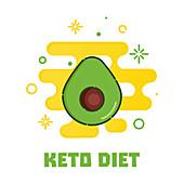 Keto diet, conceptual illustration