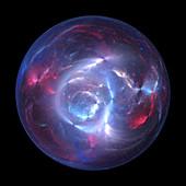 Plasma ball, conceptual illustration
