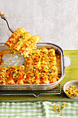 Herb and salmon cannelloni