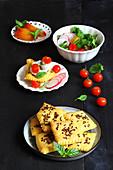 Vegane Safran-Leinsamen-Cracker