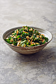 Kale salad with cashew nuts