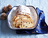 Christmas stolle nwith marchpane