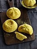 Pistachio tartlets