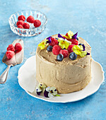 Rolled cake with coffee cream