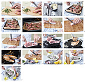 Pork cutlets with parsley salad and baked potatoes - step by step