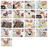 Pumpernickel tartlets with damsoncheese and lemon icing - step by step
