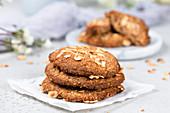 Haselnuss-Cookies ohne Zucker und ohne Mehl