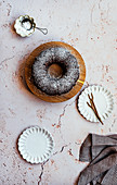 Chai Spiced Date Cake with Icing Sugar Dusting