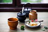 Vietnamese coffee and cake