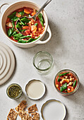 Vegetable pots with pesto 'To Go