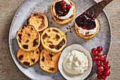 Sweet potato toast with ricotta and berry jam