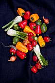 Mini peppers, mini fennel, mini onions and mini zucchini