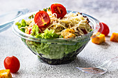 Street food salad with healthy vegetable