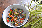 Mussels with Vinaigrette - Step by step