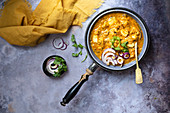 Taro root curry