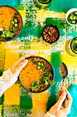 Indian spiced red lentil dal