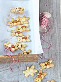 Almond cookies teddy bear