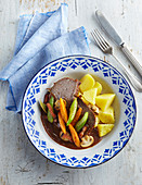 Burgundy beef pot Boeuf bourguignon