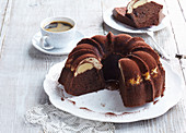 Chocolate fancy bread with cinnamon filling