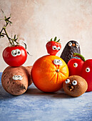 Fruit and vegetables with eyes