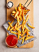 French fries with ketchup (sugar-free)