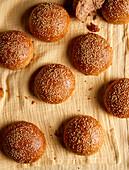 Homemade Burger Buns (sugar-free)