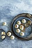 White almond balls with whiskey