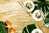 Jakobsmuscheln mit Mango-Queller-Salat