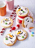 Snowman biscuit cookies