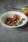 Edible flower salads