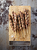 Arrosticini all'abruzzese (Grilled skewers of mutton, Italy)
