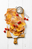 Fruit puree waffles