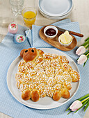 Easter lamb made from sweet yeast dough