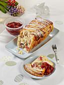 Rhubarb Pull-Apart Bread