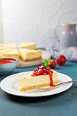 Gluten-free cheesecake with almond flour, erythritol, and cream cheese