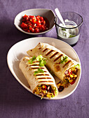 Burrito with rice