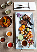 Indian grill platter