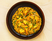 Prawn Moilee (Prawn coconut dish, India)