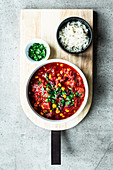 Simple Chilli con Carne with chocolate