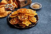 Indian rose cookies, achappam, Achu Murukku