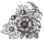 Bouquet of flowers, illustration