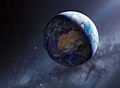 Earth day and night, illustration