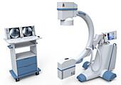 X-ray machine C-arm, illustration