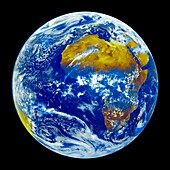 Meteosat view of Earth, illustration