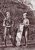 Javanese men, 19th Century illustration