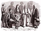Turkish people, 19th Century illustration