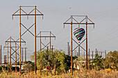 Hot air balloon crash, New Mexico, USA